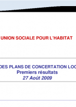 HQS ® Bilan quantitatif des plans de concertation locative