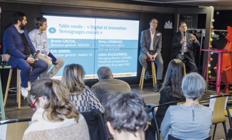 Une table ronde a permis de croiser les regards sur le digital et l'innovation, entre Offices, start-up et responsables innovation. © H. Thouroude/FNOPH